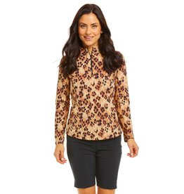 IBKul LE Leopard LS Mock Natural Black