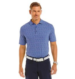 IBKul Cool Stripe Short Sleeve Polo Ink