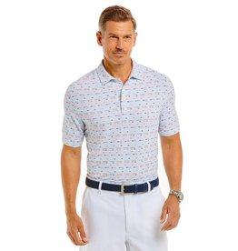 IBKul Cool Stripe Short Sleeve Polo White