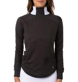 Golftini 1/4 Zip Contrast Pullover Black