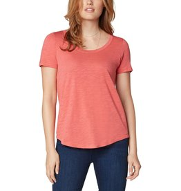 Liverpool Jeans Scoop Neck SS Tee Hot Coral