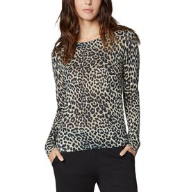 Liverpool Jeans Printed Long Sleeve Sweater Leopard