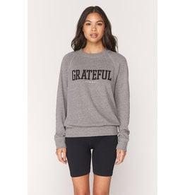 Spiritual Gangster Grateful Old School Pullover Heather Grey