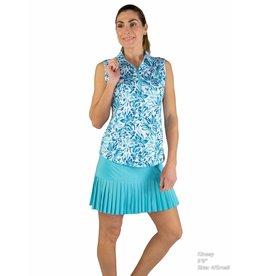 Jofit Sleeveless Polo Crystal Teal Floral