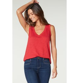 Liverpool Jeans Sleeveless V-Neck Tee True Red