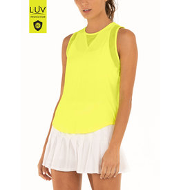 Lucky In Love Chill Out Tank Neon Yellow