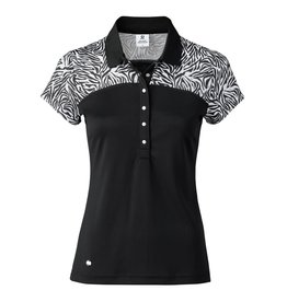 Daily Sports Daily Sports Zillian Cap Sleeve Polo Black
