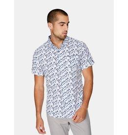 7 Diamonds Ultraviolet 4 Way Stretch Shirt White