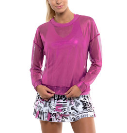 Lucky In Love Goddess Mesh LS Top Passion Pink