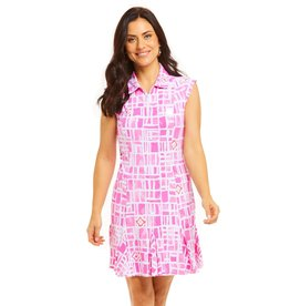 IBKul IBKul Out of the Box Sleeveless Dress Pink/Wht