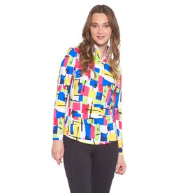 IBKul IBKul Mondrian Long Sleeve Mock Multi