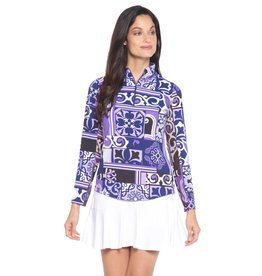 IBKul IBKul Jacklin Long Sleeve Mock Purple