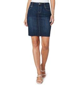 Liverpool Jeans Gia Pull On Cut Hem Skirt Lowry