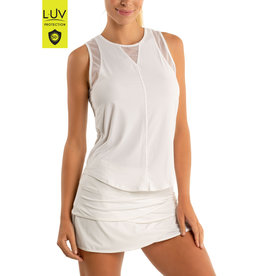 Lucky In Love Chill Out Tank White