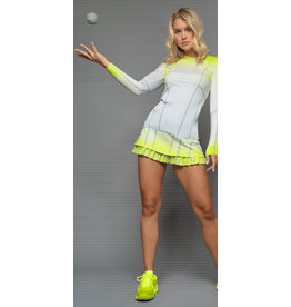 Lucky In Love Pleat it Up LS Top Neon Yellow