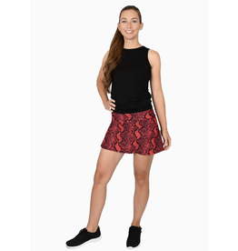 Queen of the Court Snake Print Skort Red