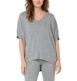 Liverpool Jeans V-Neck Dolman Shirt Heather Grey
