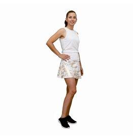 Queen of the Court Camo Foil Tennis Skort White/Gold