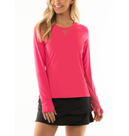 Lucky In Love High-Low Long Sleeve Shocking Pink