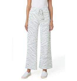 Liverpool Jeans Pull On Wide Leg Pant Leopard Jacquard