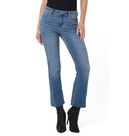 Liverpool Jeans Seamed Crop Flare Jersey