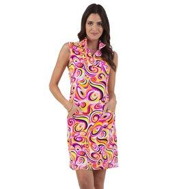 IBKul Emma SL Dress Hot Pink