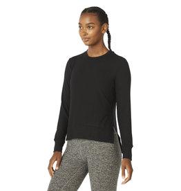 Beyond Yoga Side Slit LS Pullover Black