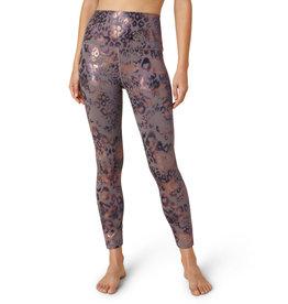 Beyond Yoga HIgh Waisted Midi Legging Multi Leopard Foil
