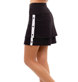 Lucky In Love Snap To It Skort Long Black