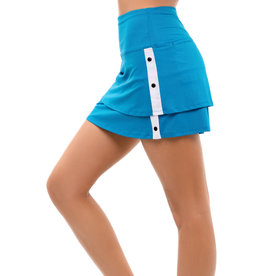 Lucky In Love Snap To It Skort Short Turquoise