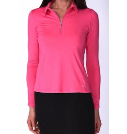 Golftini Golftini Long Sleeve Zip Tech Polo