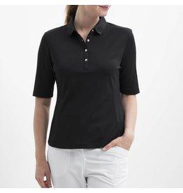 Nivo Sport Nivo Nina Elbow Sleeve Polo Black