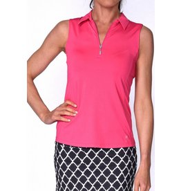 Golftini Golftini Sleeveless Zip Tech Polo