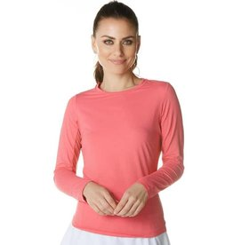 IBKul IBKul Solid Long Sleeve Crew Watermelon