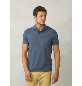 prAna prAna Pacer Short Sleeve Polo Equinox Blue
