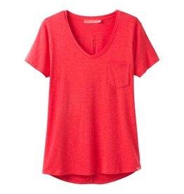 prAna prAna Foundation Short Sleeve Tee Carmine Pink