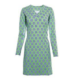 IBKul IBKul Aida V-Neck Dress Green/Blue
