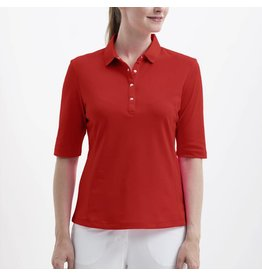 Nivo Sport Nivo Nina Elbow Sleeve Polo Red