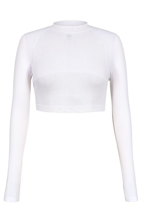fb98976d16f0 Tail Edie Crop Top White