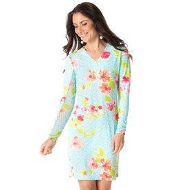 IBKul IBKul Ashly V-Neck Dress Seafoam