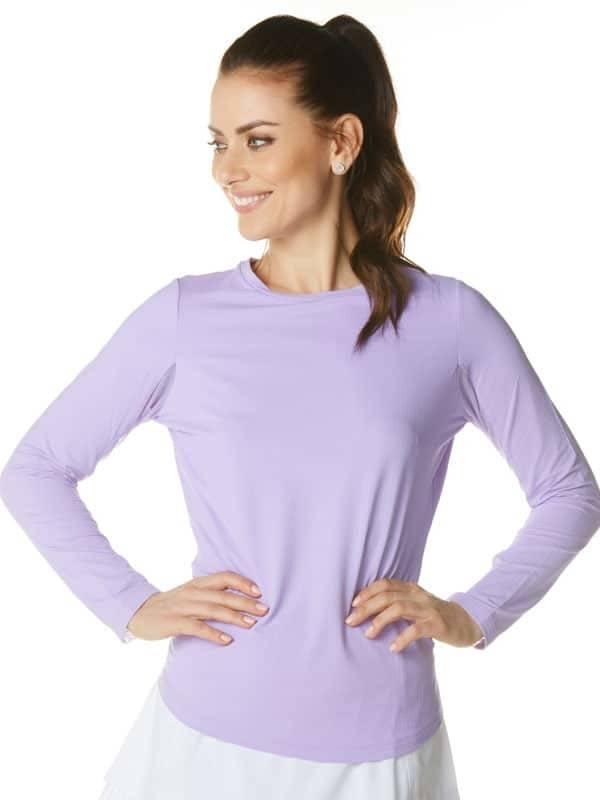 IBKul IBKul Solid Long Sleeve Lavender
