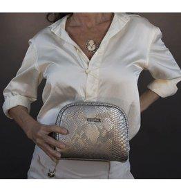 Cutler Bags Cutler Bags Loren Cosmetic Case Silver Lizard