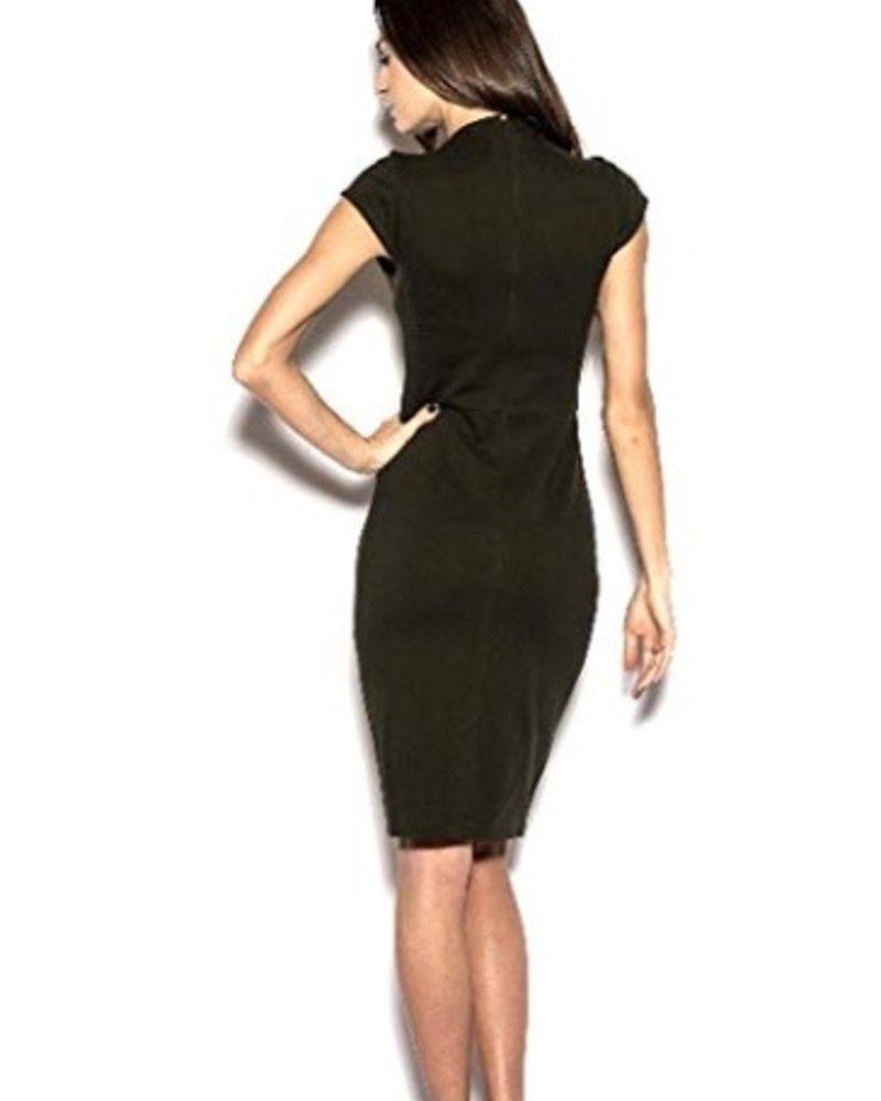 BLAQUE LABEL High neck cap sleeve dress