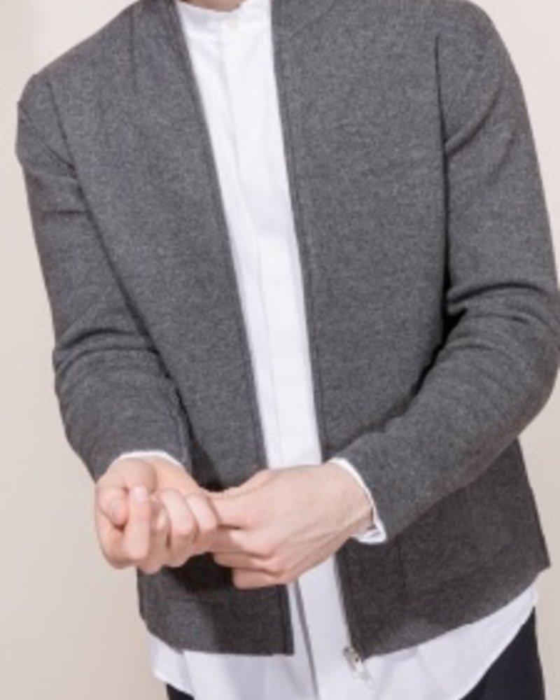 Kokun Patch pocket zip jacket, 100% Cashmere