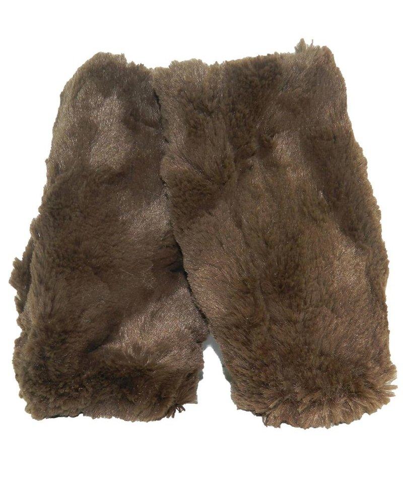 verdigris Faux Fur Fingerless Gloves