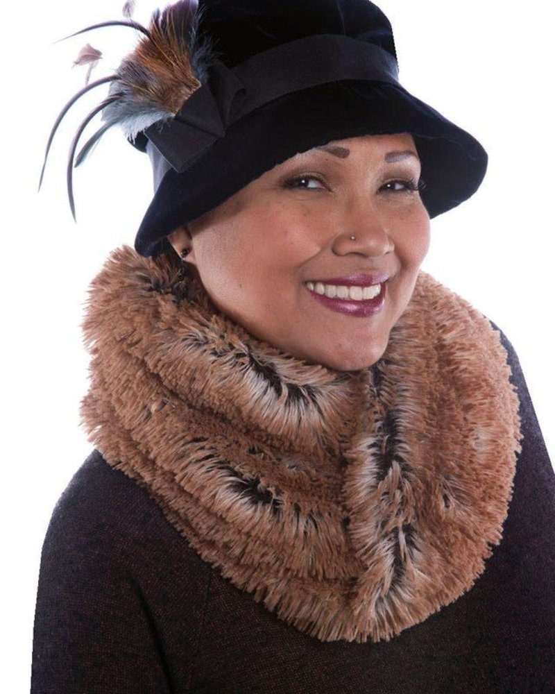verdigris Faux Fur neckwarmer Made in USA