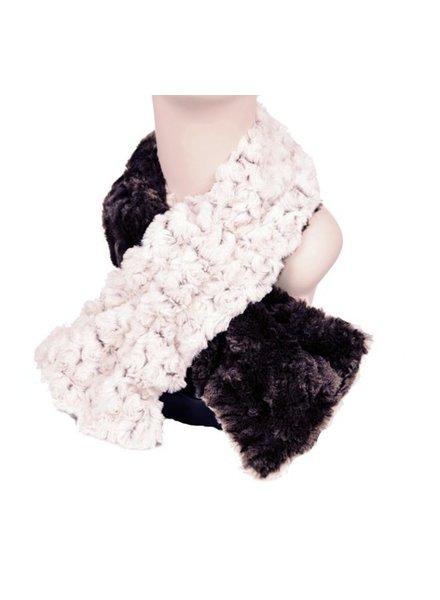 verdigris Faux Fur Pull thru scarf Made in USA