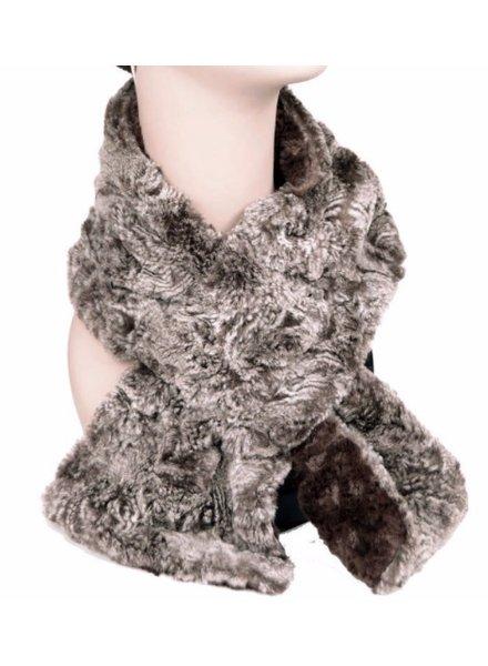 verdigris Pull thru scarf chocolate with parline swirl