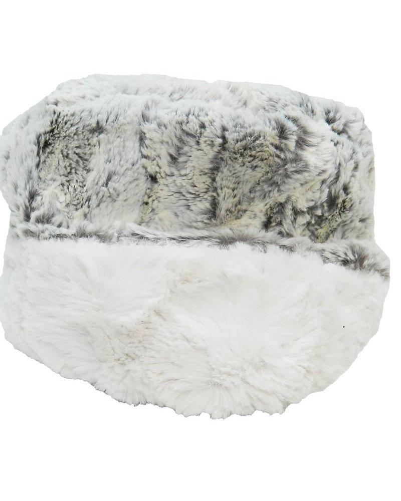 verdigris Faux Fur Pillbox Hat