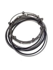 verdigris Black multi texture piano wire bracelet